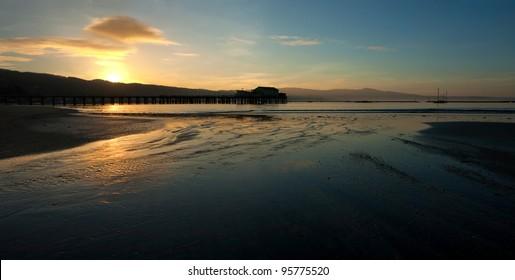 Beautiful sunrise over Half Moon Bay, California