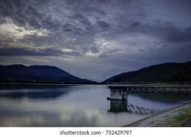 Beautiful Sunrise over the Mona Reservoir