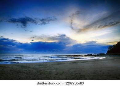 A beautiful sunrise at Pandak beach, Terengganu