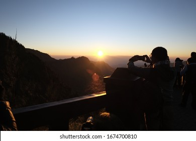 beautiful sunrise photo taken from Mount Bromo