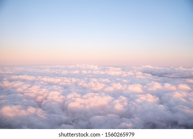 Beautiful sunrise picture of the clouds taken from an airplane!