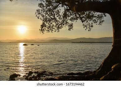 Beautiful sunrise at Ranong, Thailand