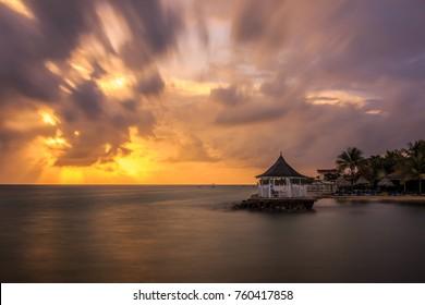 A beautiful sunrise in Runaway Bay, St Ann, Jamaica