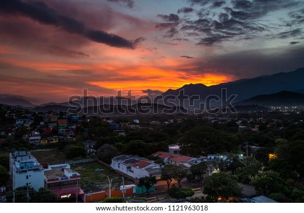 Beautiful sunrise - Santa Marta Colombia - Mountain