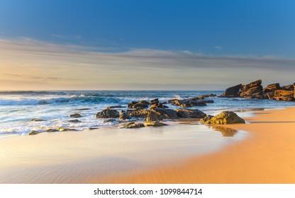 Beautiful Sunrise Seascape - Capturing the sunrise from Killcare Beach on the Central Coast, NSW, Australia.