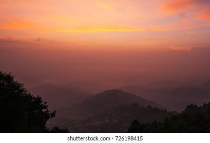 A beautiful sunrise shot from one of the hotels in Nagarkot, Kathmandu Nepal