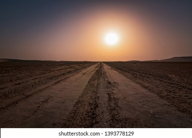 Beautiful Sunrise view at desert Dammam Saudi Arabia