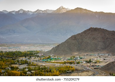 A beautiful sunset at altitude in Leh the capital of Ladakh India