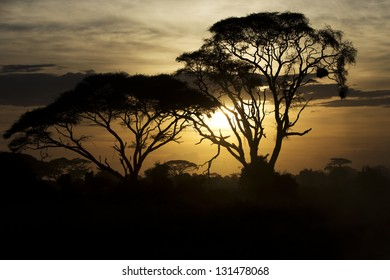 Beautiful sunset in Amboseli National Park 06