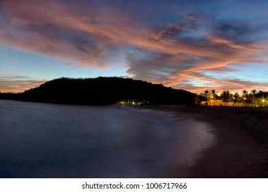 Beautiful sunset, Bahia Chahue. Huatulco, Oaxaca, Mexico. Located east of Bahia Tangolunda.