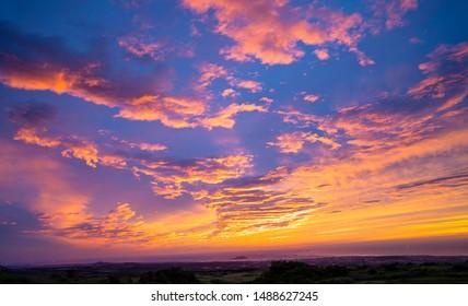 beautiful sunset beach in jeju