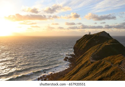 Beautiful sunset from Cape Kamui. It's worth going to Cape Kamui because you can see the amazing landscape.