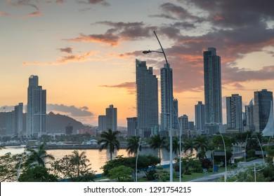 Beautiful Sunset Of Panamá City