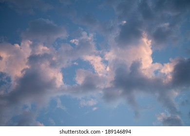 Beautiful Sunset Clouds with Pinks and Blues 4