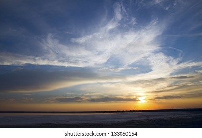 Beautiful sunset in Crimea