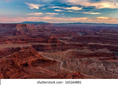 Beautiful Sunset in Dead Horse State Park, Utah