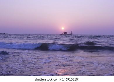 Beautiful sunset at Gokarna beach
