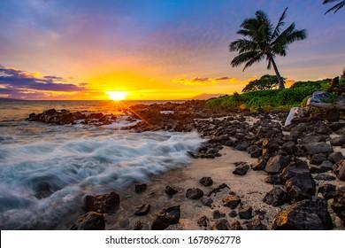 Beautiful sunset at the Grand Wailea in Maui