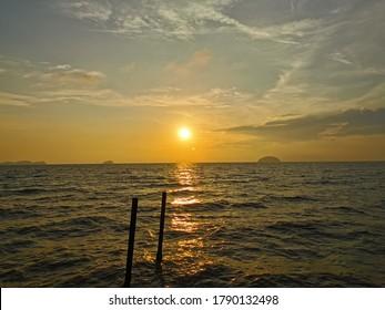 Beautiful sunset from heart of ocean