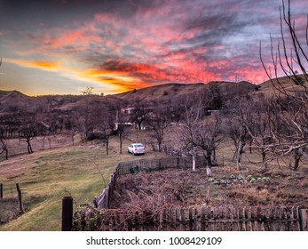 Beautiful sunset in the hills