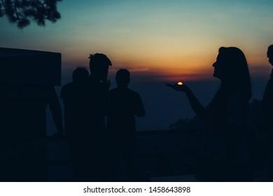 Beautiful Sunset at Kasauli Valley