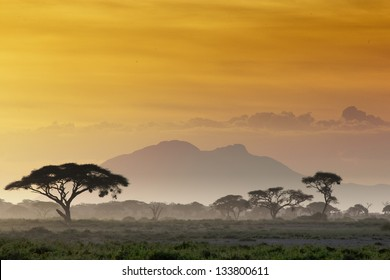 Beautiful sunset in Kenya 03