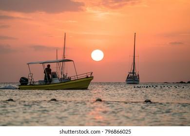 Beautiful sunset in Ko Lipe Island, in Thailand