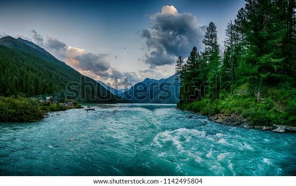 beautiful-sunset-kucherla-mountain-lake-