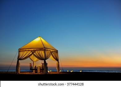 Beautiful Sunset at Kuta Beach, Bali, Indonesia