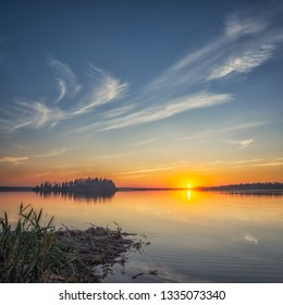 A beautiful sunset of a lake in Alberta from a couple of summers ago.