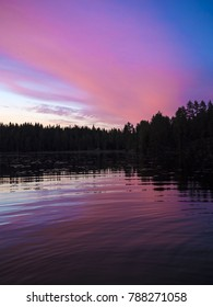 Beautiful Sunset Lakeside View - Lusi, Finland