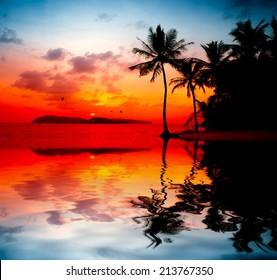beautiful sunset at Langkawi Island