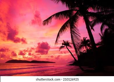 beautiful sunset at Langkawi Island, Malaysia