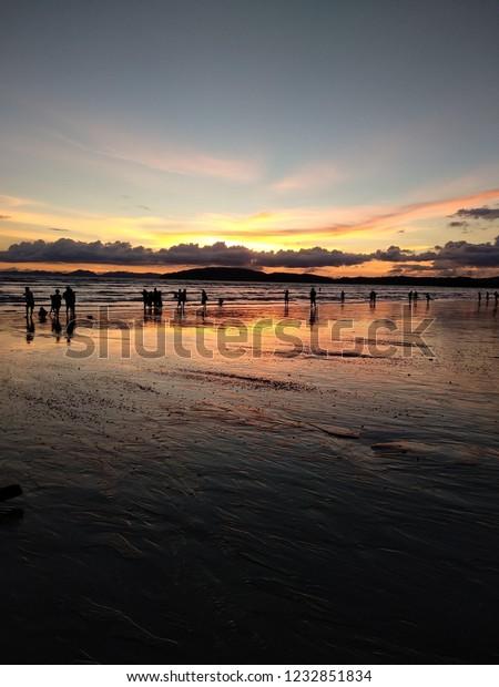 Beautiful Sunset Langkawi Malaysia Wallpaper Stock Photo
