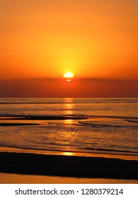 Beautiful sunset at Lovina beach, Bali, Indonesia