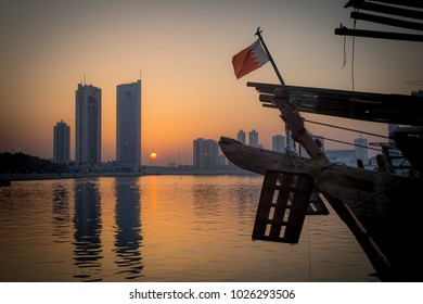 A beautiful sunset in Manama, Bahrain.
