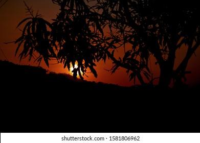 Beautiful sunset at Menoreh Hill