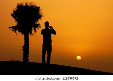 a beautiful sunset at Morocco