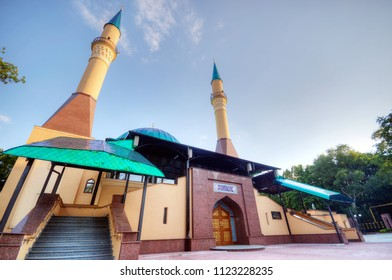 Beautiful sunset Mosque in Donetsk, Ukraine. The Donetsk People's Republic (DPR or DNR)
