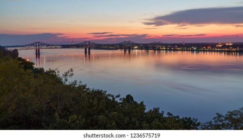 Beautiful Sunset in Natchez, Mississippi
