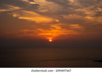 Beautiful Sunset on background