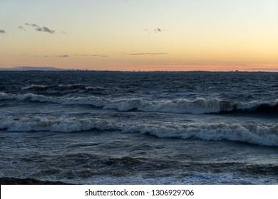Beautiful sunset on the baltic Sea