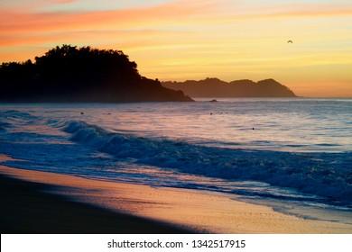 Beautiful sunset on the Pacific Ocean near Sayulita, Mexico