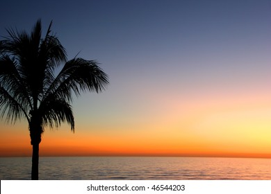 a beautiful sunset on Sanibel Island Florida