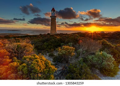 Beautiful  sunset over Cape Du Couedic Lighthouse.Flinders Chase National Park,Kangaroo Island.South Australia