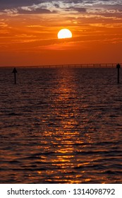 Beautiful sunset over the Gulf of Mexico in Destin, Florida