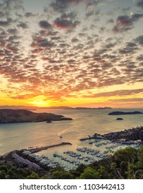 Beautiful sunset over Hamilton Island in the Whitsundays