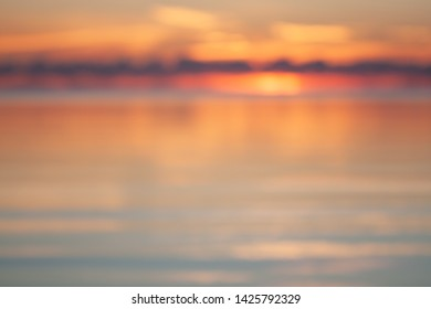 beautiful sunset over the ocean, natural blurred background
