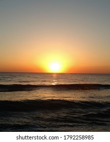 Beautiful sunset over ocean on island on Florida Coast