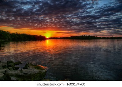 Beautiful Sunset over Percy Priest Lake near Smyrna Tennessee